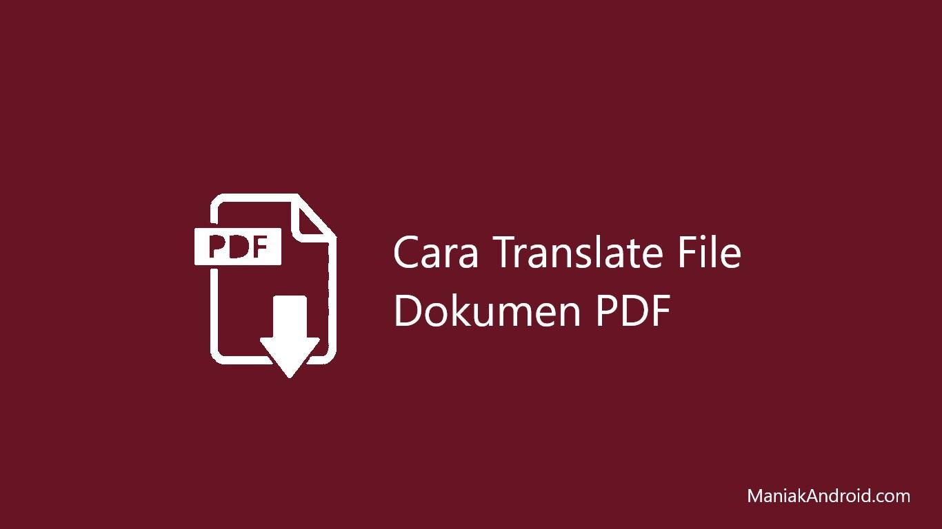 Cara Translate File Pdf Bahasa Inggris Ke Bahasa Indonesia